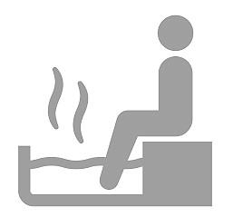 足湯に入っている人のイラスト画像