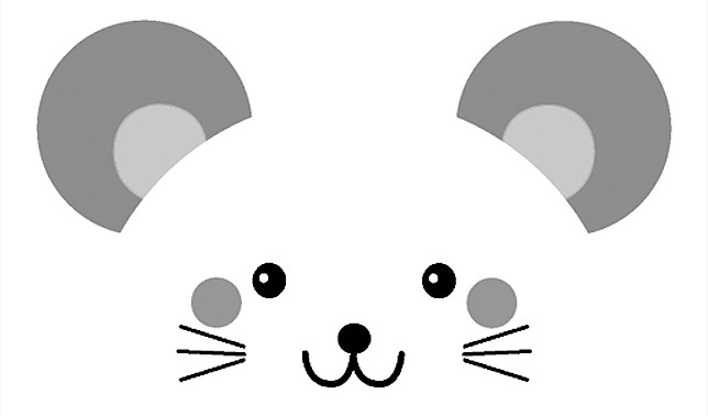 2020年の干支、ネズミのイラスト