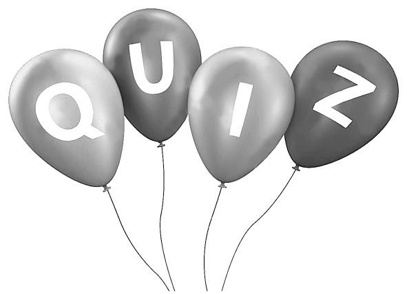 風船にQUIZ(クイズ)と書いてあるイラスト