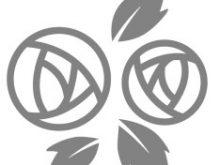 バラ2輪のイラスト